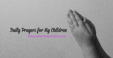 Great list of ways I can pray for my kids every day with scripture too!