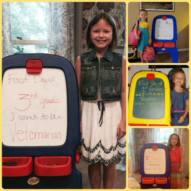 Ella First Day Collage
