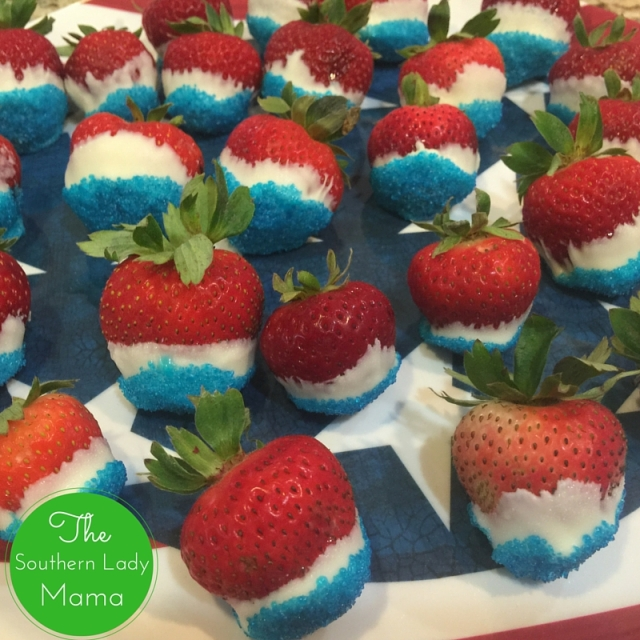 Patriotic Strawberries - The Southern Lady Mama